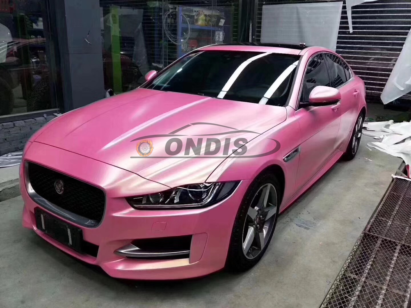 New Arrival 1.52*18m Car Decal Pink Gold Matted Diamond Glitter Wrapping Car Film