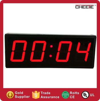 New interval led light wall clock 4 digit 4 inch digital crossfit new interval led light wall clock 4 digit 4 inch digital crossfit timer aloadofball Image collections