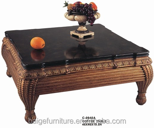 c0940 good quality french country coffee table wooden and glass