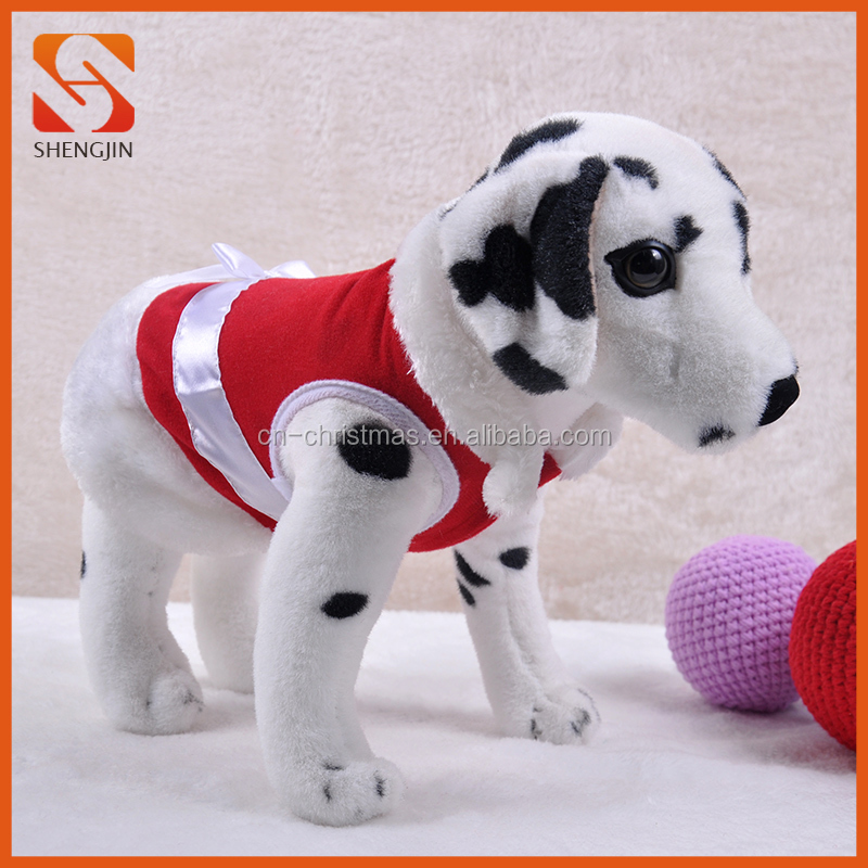 Red White Warm Pet Clothes Dog Coat Christmas Puppy Outfit wholesale dog clothes