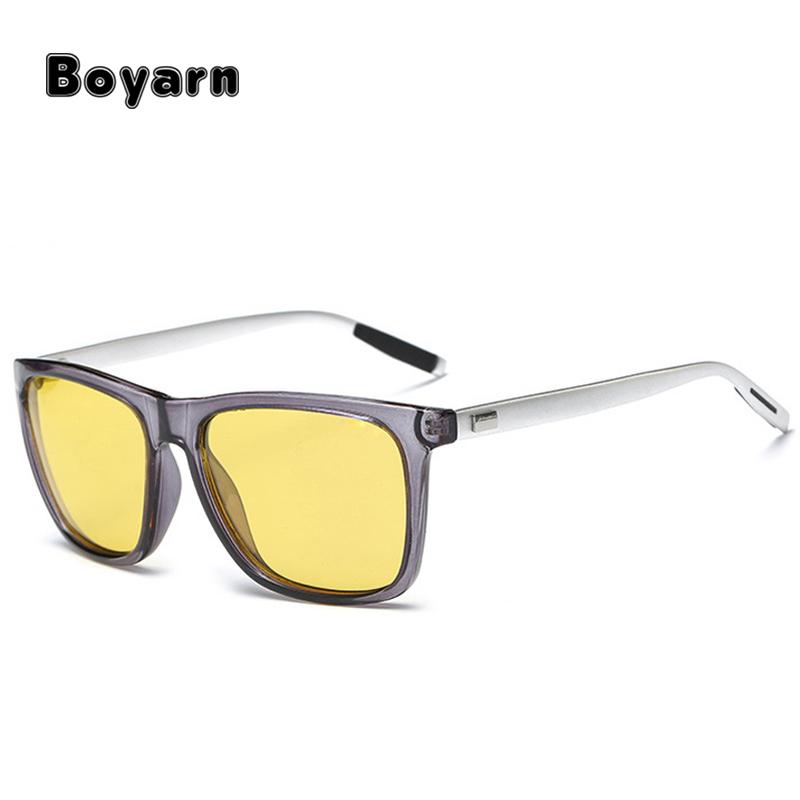 Fashion Mens Night Vision Anti Glare Driving Sunglasses Polarized Yellow Glasses