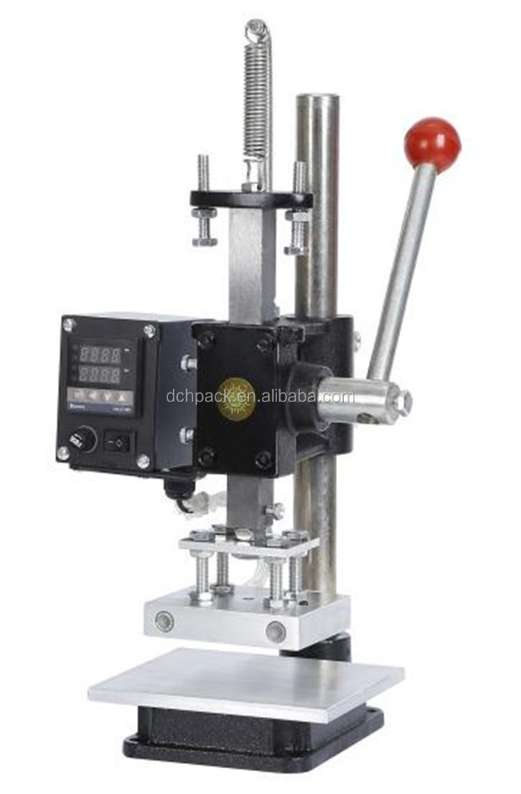 manual type 100w handle heat stamping machine for logo machine wood leather