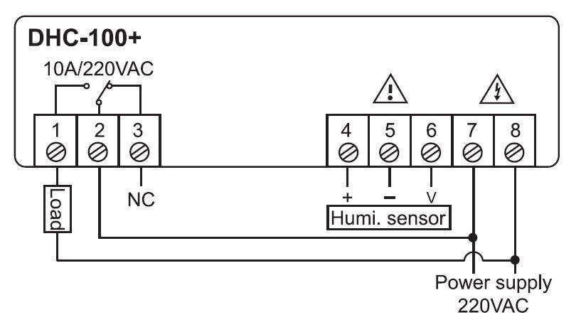 Humidity Controller Dhc100 Buy Controllerhumidity. Humidity Controller Dhc100. Wiring. Wiring Diagram Humidity Controller At Scoala.co