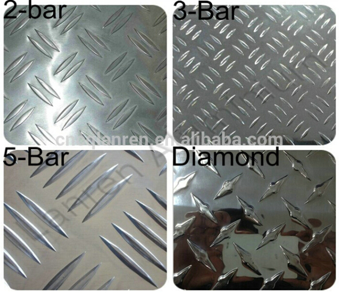Bright Surface Diamond Aluminium 5-bar Tread Plate/sheet