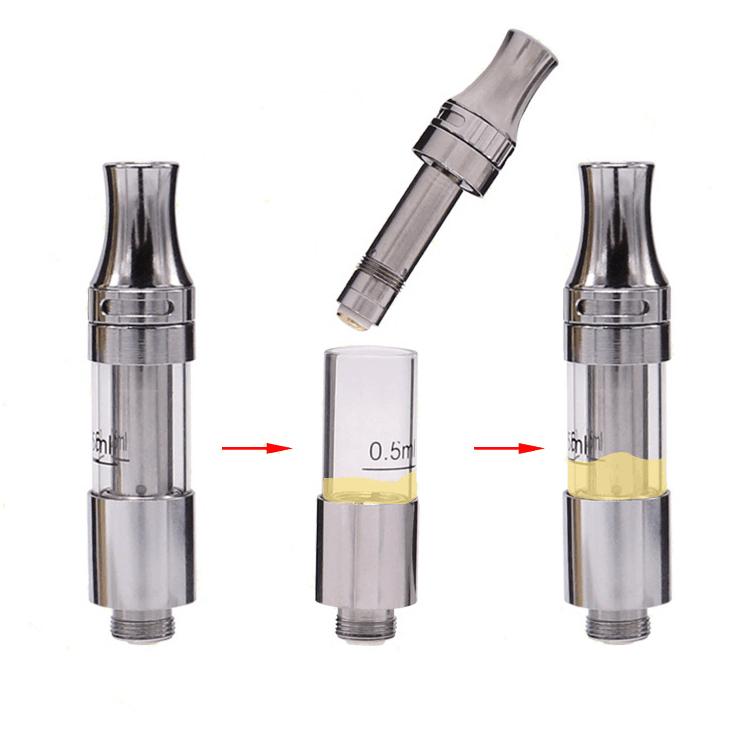 2018 new products Liberty V9 cbd oil cartridge adjustable airflow .5ml cbd vape cartridge PP tube package ceramic cartridge