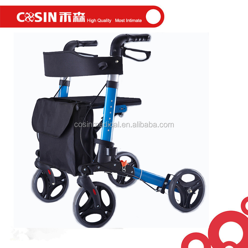 light aluminum folding rollator senior walkers with seat