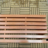 Backless solid wood bench for out door use