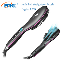 New 2019 Most convenient hair straightening brush PTC heater massage comb portable ionic hair brush electric ionic hair brush