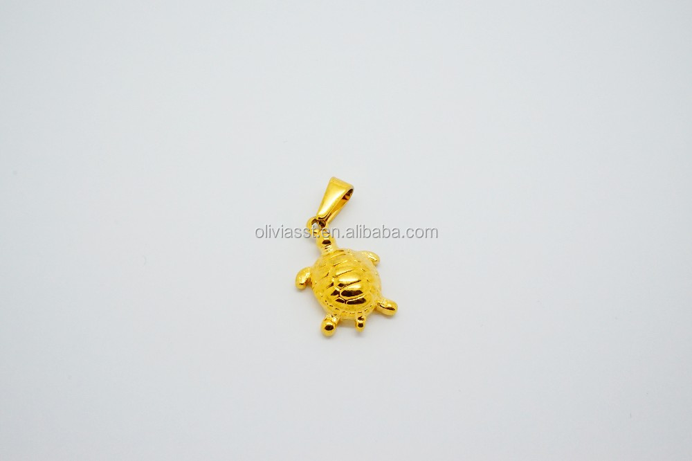 Bulk wholesale stainless steel simple design animal pendant gold animal gold plated sea jewelry small cute turtle charm pendanttanishq gold pendant designs aloadofball Choice Image