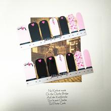 Romantic Love Hearts Nail Arts Sticker 14 pcs set Waterproof Nail Decals Art Stickers Gel Polish