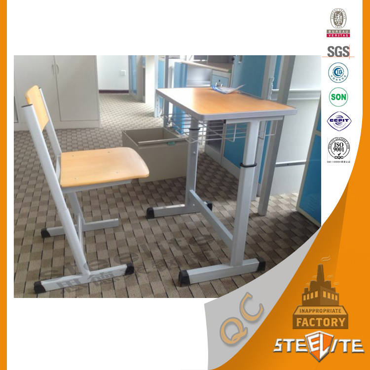 China factory Durable in use cheap school desk and chairs with great price