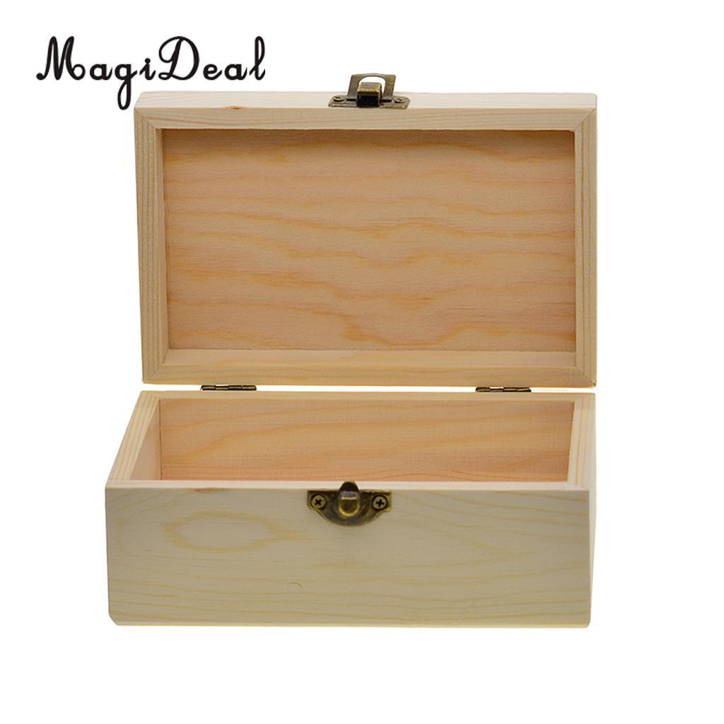 2019 Rectangle Wooden Storage Box Plain Wood Box Jewelry Wedding