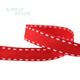 10mm red ribbon dots grosgrain ribbon wholesale gift wrap decoration christmas gift ribbon (50 yards/roll)