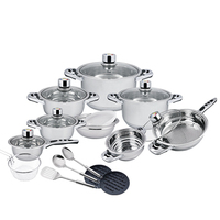 2018 new products cooking pot hot pot cookware set wide rim pot