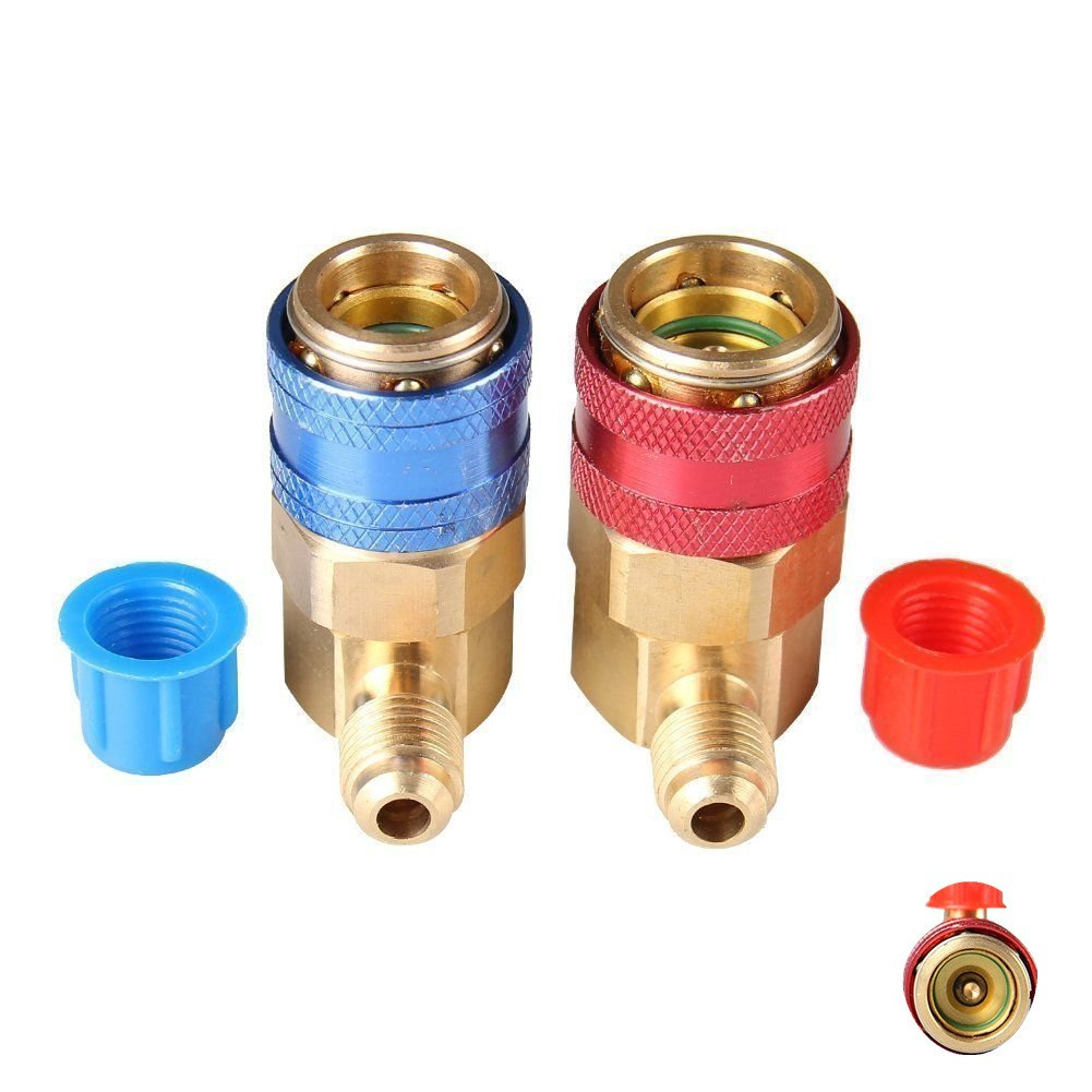 B Baosity Auto Ac R134a Quick Coupler Adapter High /& Low Pressure Air Conditioning Accessories
