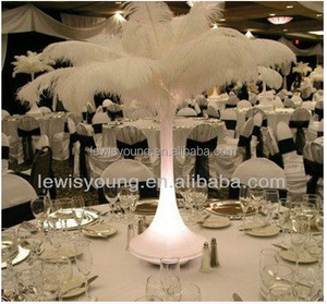 dyed multicolor ostrich feathers party wedding table decoration