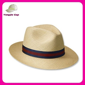 hand made small brim trilby mens promotional panama straw hat wholesale f1048abad4c