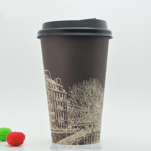 10 Oz Paper Coffee Cups Disposable Colorful Cup Hot White