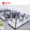 2017 trending goods glass panel office partitions with 6 person office desk width 750(FOH-SS40-1414L)