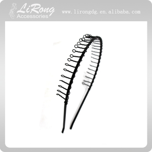 Fashion design headbands large head bands wide metal hair accessories for women