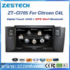 ZESTECH Car DVD/GPS manufacturer in dash car player Video 3G, for Citroen C4L car dvd