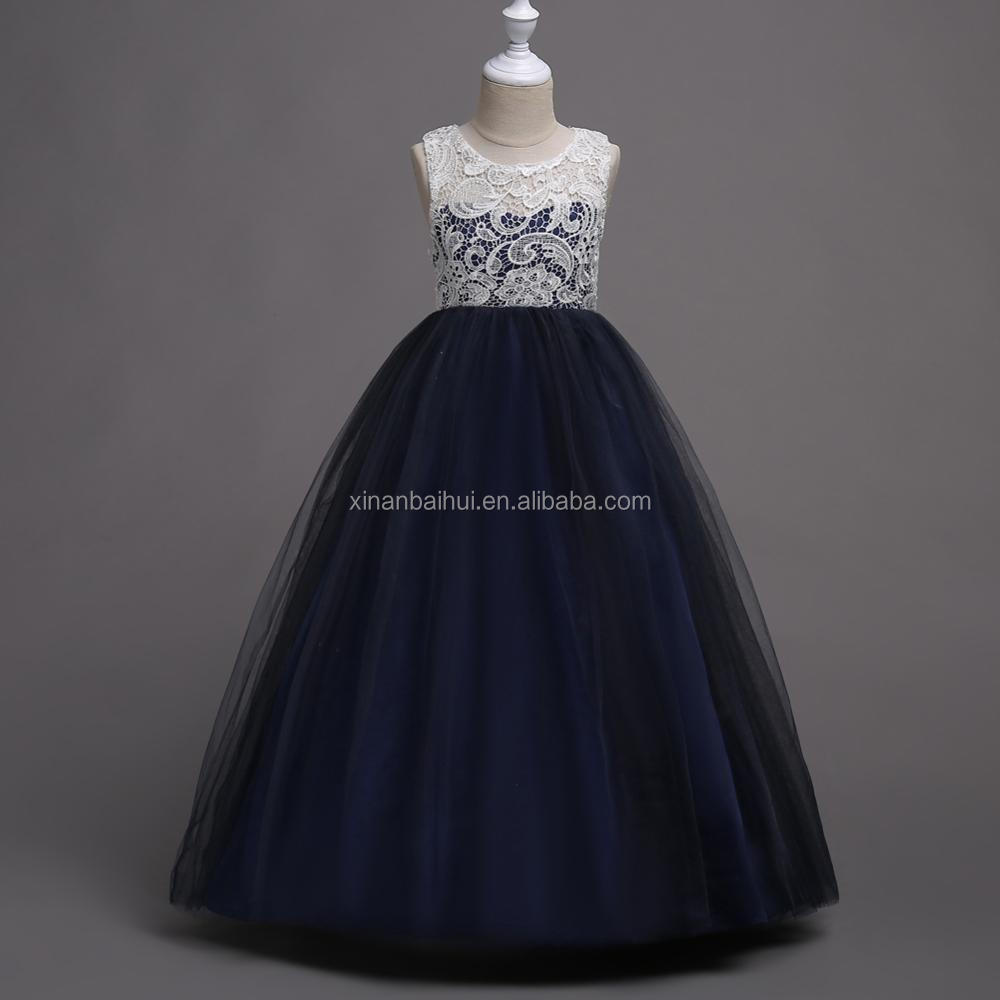 Europe And America Style Girl Bridesmaid Gown Chiffon Kids Party ...