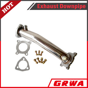 SS exhaust downpipe for AUDI A4 B7 VW 2.0L 2.0T FSI 06 07 08 Front Turbo Downpipe Typ 8E 8H_1