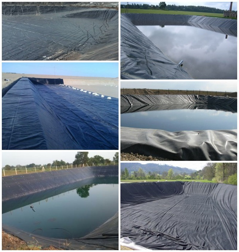 black hdpe plastic  pond liner 500 micron with good price