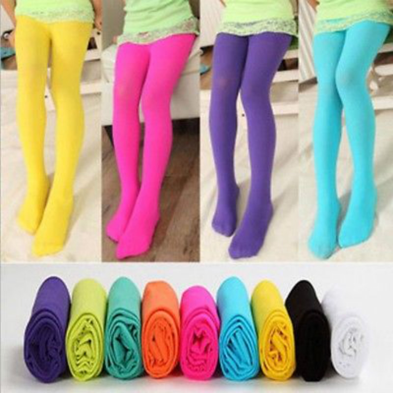 Newest Children s Girl Candy colored pantyhose Girls Kids Tights Candy Color Pantyhose Stockings Soft Velvet