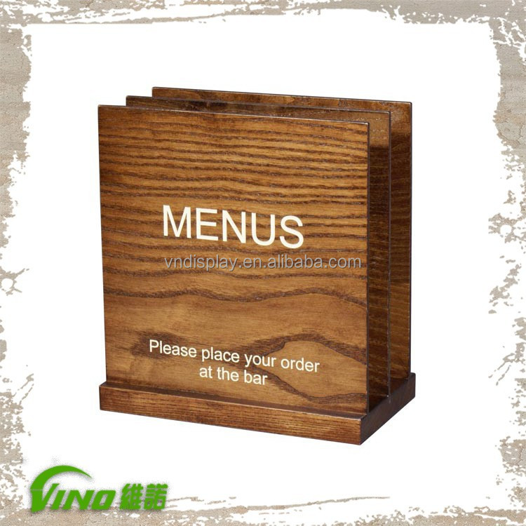 Table Stand Menu Holderwooden Menu Holderrestaurant Table Menu