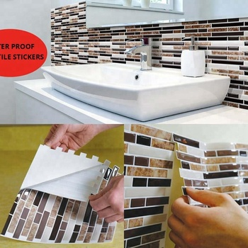 Oil-Proof Feature Brick 3D Wallpaper for Kitchen
