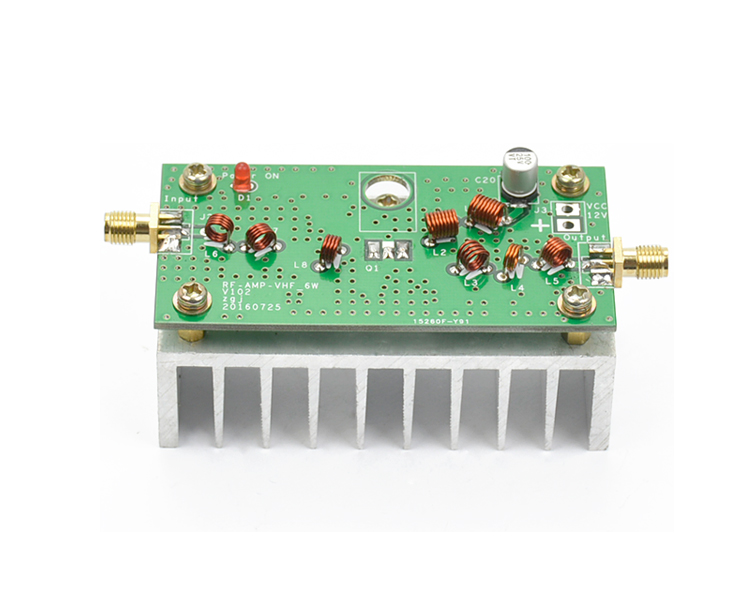 88-108MHZ 6W VHF Power Amplifier Finish Board For FM Transmitter RF Radio Ham With Heatsink