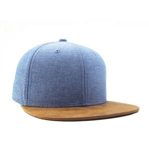 3a6bcf17dff High quality 6 panel blue jean blank denim custom suede brim snapback hats  wholesale