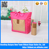 210D Nylon fashion foldable travel trolley handbag storage bag with handle