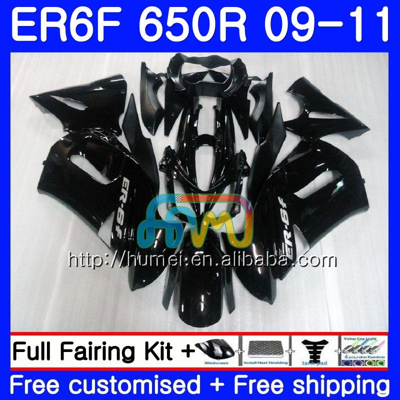 Black Silicone Radiator Hose Kit for Kawasaki Ninja 650R ER6F EX-6 ER6N 2006-11