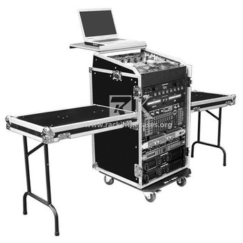 16u mixer rack cases with twin tables for dj equipment for Table 6 2 specification for highway works