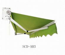 aluminium outdoor retractable balcony awning