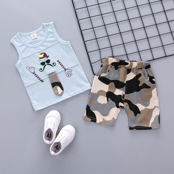 d4fec02006ea Ss-839b Children s Clothing Baby Boy Vest Suit 1-5 Years Old Summer ...