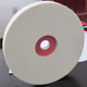 Customized thick industrial white wool felt wheel for polishing, wool buffing pads