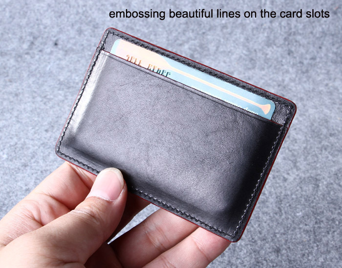 Custom Leather Credit Card Holder/personalized Dark Brown Leather ...