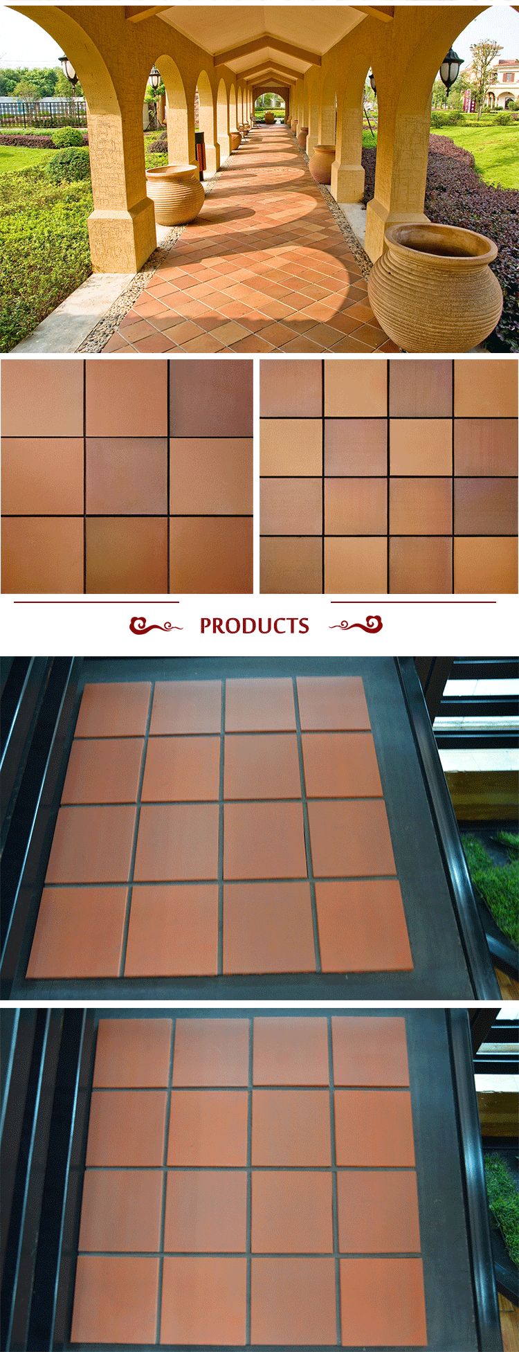 Mpb 004 supplier decorative outdoor terracotta floor tiles 150x150 buy terracotta tiles floor for Exterior terracotta floor tiles
