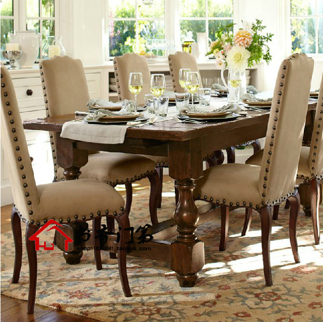 Old Country Dining Room Tables: American Country Style Round Dining Table Square Dining