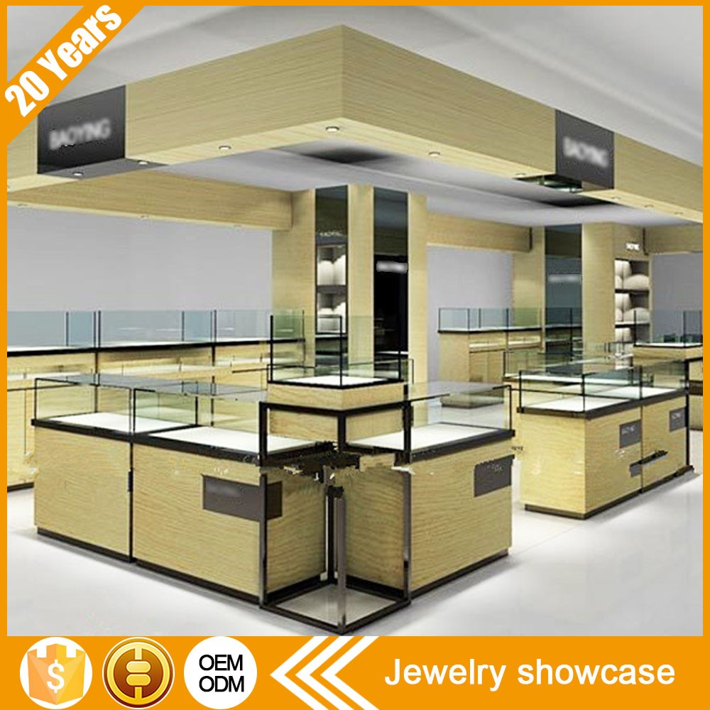 Modern Style Custom Luxury Interior Jewellery Showroom Designs ...
