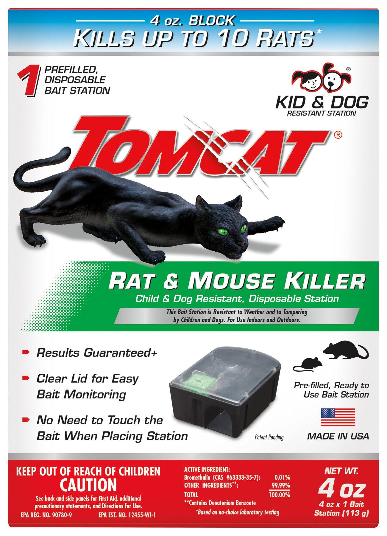 Tomcat 0370510 Tier 1 Disposable Rat & Mouse Bait Station
