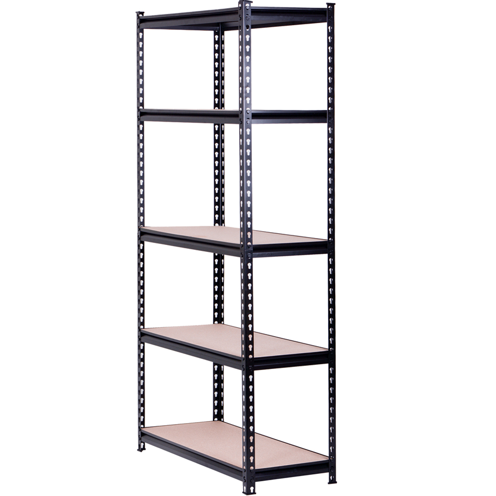 5 Tiers Warehouse Metal Light Duty Rack Boltless Rivet Steel Storage Shelving System