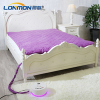 LED light water heating mattress Safely electric warming pad 200cm x 150cm Energy efficient heated mattress pad
