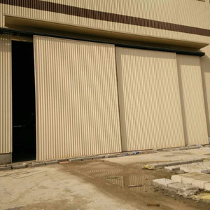 Industrial Galvanized Steel Sliding door for Big Factory Door