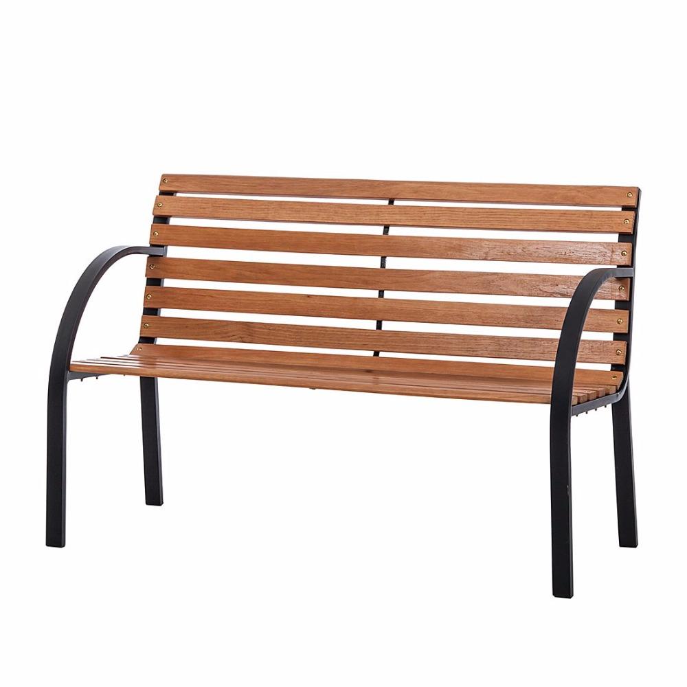 Hardwood Park Bench Metal Ends Frame Buy Cheap Outdoor