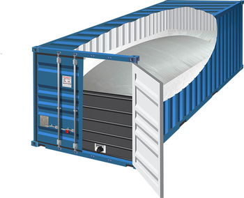 20ft container glicerina flexitank trasporto 24000L usa e getta flexitank