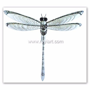 Whole Decorative Dragonfly Home Decor Wrought Iron Metal Wall Art